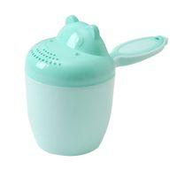 baile oyuncakları toptan satış-Kaşık Sevimli Karikatür Çocuk Aracı Bailer Yenidoğan Bebek Bakımı Duş Yıkama Yıkama Saç Oyuncak Çocuk Taşınabilir Şampuan Banyo Bardağı