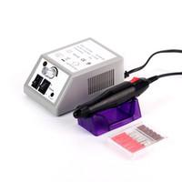 elektro-nagel-bohrmaschine großhandel-Beau Gel Professionelle Elektrische Nagelbohrmaschine Maniküre Maschine Elektrische Dateien Tools Kit Schleifen Verglasung Maschine Maniküre Werkzeug