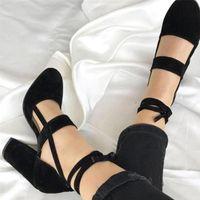 ingrosso grandi abiti da donna merlettano-2019 Donne Sexy Gladiator Peep Toe Taglio Lace Up Tacco Alto Pompe Lady Shoes Big Size