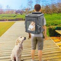 ingrosso gatto di cane delle borse-Pet Dog Carrier Zaino Pieghevole Traspirante Trasportatore per esterni Borse da viaggio a tracolla per piccoli cani Puggy Cats Chihuahua Pet Handbag MMA111