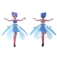 Wholesale fairy toys fly for sale - Group buy Mini RC Aircraft Flying Fairy Doll Electric Induction RC Drone Helicopter Toy Fairy Tale Figures Christmas Gift for Girls DHL Shipping