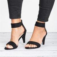 Wholesale leopard print low heels for sale - Group buy Leopard Print Sandals Stilettos Buckle Open Toe Sandals Women Large Size Summer European And American Style