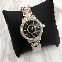 edle quarzuhr großhandel-Spitzenentwurfs-Luxusfrauen passen edle weibliche Quarzstahlarmband-Kettenrose Kleid-Uhr der Dame mit Großhandelspreis Diamant Japan-Bewegung auf