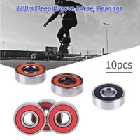 ingrosso bearings shaft-10pcs 608rs Deep Groove Steel Wheel Bearings Skateboard Scooter Scorrevole Quad Inline Skate Giocattolo Auto Alberi