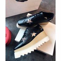 combinações de estrelas venda por atacado-2019 Multi Star Designer De Luxo Combinação De Três Camadas solas de fundo Bota Moda Casual Sapatos de Qualidade Superior Tamanho EUR35-39