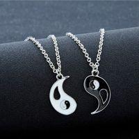 colar dos amantes de yin yang venda por atacado-Melhores amigos colares de costura para Os Amantes Charme Pingente de Colar masculino colar de pingente de colar de casal yin yang yin yang pingente