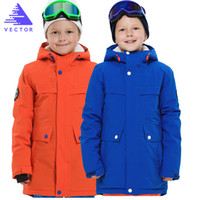 erkek ceketleri toptan satış-VEKTÖR Su Geçirmez Çocuk Kayak Ceketler Kış Sıcak Erkek Kız Ceketler Açık Ceket Spor Kar Kayak Snowboard Giyim