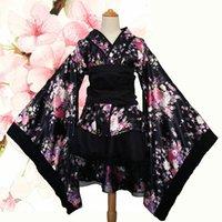 ingrosso yukata-Kimono sexy da donna Kimura Costume giapponese Kimono tradizionale Stampa originale Vintage tradizione Yukata vestito di seta S-XXXL