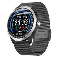 mejores relojes inteligentes al por mayor-ECG + PPG Smart Watch IP67 Impermeable Fitness Tracker Smartwatch Hombre Relojes deportivos Mujeres mejor regalo para novio y novia