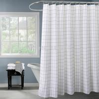 estilo clássico venda por atacado-Árvore feliz poliéster clássico preto branco xadrez cortina de chuveiro engrossar tecido cortina de banho estilos clássicos banho