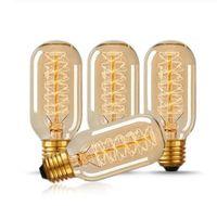bombilla de edison al aire libre al por mayor-Vintage E27 T45 LED 40W estilo Edison lágrima espiral filamento bombilla bombillas Retro lámparas para cafetería Inicio Iluminación decorativa