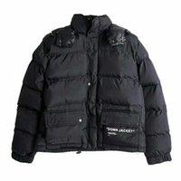 ingrosso progettazione di cappotti neri per gli uomini-Nuovo hip hop degli Stati Uniti il più nuovo virgil fuori dal cappotto del rivestimento del piumino del cotone del cappotto delle donne degli uomini unisex in nero