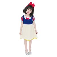 Wholesale baby clothes for party for sale - Group buy Snow White Dress for Children Girl Princess Dress Summer Kids Baby Gifts Intant Party Clothes Fancy Teenager Clothing