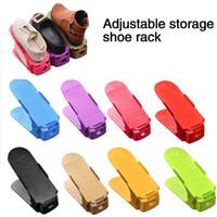 10pcs Shoe Rack Adjustable Shoe Rack for Organizer Shoes Footwear Storage Stand Support Slot Space Saving Cabinet Closet Shoe Holder
