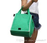ingrosso carrelli di shopping di tessuto-1 PZ Nuovo Shopping bag pieghevole Shopping bag Tote Bag Grocery Grab Bag Shopping Carrier Clip-to-Cart Ecofriendly Durable