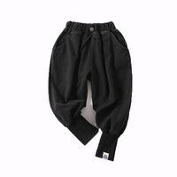 erkekler jogger pantolon toptan satış-Çocuklar Erkek Kot Çocuk Rahat Pantolon Elastik Kot Jogging Yapan Pantolon Katı Geri Iki Cepler Elastik Bel 6