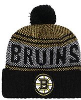 10f6f6ca67e BRUINS Beanie Sideline Cold Weather Graphite Official Revers Sport Knit Hat  All Teams winter Warm Knitted Wool Skull Cap