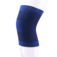ingrosso cinturino per ginocchio pallacanestro-1pc regolabile morbido elastico traspirante del gancio di sostegno del ginocchio del rilievo della protezione Sport Bandage di sicurezza della protezione cinghia per il basket