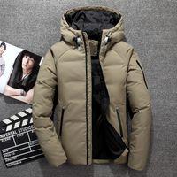 2018 High Quality Men Fashion White Duck Down Jacket Winter Casual Down Coats jackets Parkas Men sportswear clothing