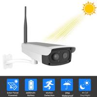 caméras ip hd extérieures sans fil achat en gros de-Caméra de sécurité sans fil WiFi Batterie Rechargeable Solaire Caméra IP 1080P HD Surveillance extérieure CCTV Capteur de mouvement PIR