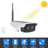 ip pir kamera toptan satış-Kablosuz Güvenlik Kamera WiFi Güneş şarj edilebilir batarya IP Kamera HD 1080P Açık Gözetleme CCTV PIR Hareket Sensörü