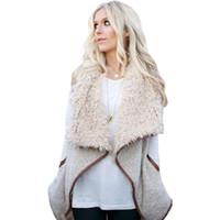 roupa de escritório inverno venda por atacado-Mulheres Colete De Pele Colete Feminino Sem Mangas Casaco Básico Jaqueta Moda Coletes de Inverno Escritório Roupas Casuais Outerwear Casacos
