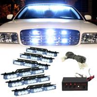 Wholesale led emergency vehicle strobe lights for sale - Group buy Amber White White Amber LED Emergency Vehicle Strobe Flash Lights for Front Deck Grille or Rear light flash
