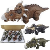 Wholesale Kids Inertia Dinosaurs Toys with Lights and Sounds Inertia Cars Toys Dinosaur Models Party Gifts for Children