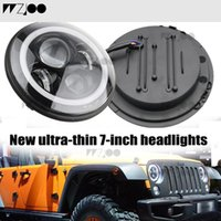 Wholesale led halo headlight rings for sale - Group buy 7Inch LED Headlamps with Halo Ring Amber Turn Signal For lada niva x4 suzuki samurai quot LED DRL Halo Headlights For VAZ