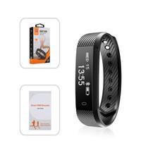 pulsera vs al por mayor-Hot ID115 HR Pulsera inteligente Monitor de ritmo cardíaco Rastreador de actividad Banda inteligente Pulseras impermeables para IOS Android VS Fitbit