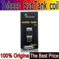 tanque turbo original al por mayor-Bobina original Tobeco Super Tank Coils Sub-Ohm Bobina reconstruible para Super Tank nano supertank 25 mm rta 22 mm turbo ks Atlantis Atlantis