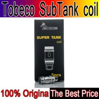 tanque turbo original venda por atacado-Original Tobeco Super Tanque Bobinas Sub-Ohm rebuildable Bobina para Super tanque nano supertanque 25mm rta 22mm turbo ks atomizador atlantis