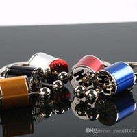 Wholesale modified auto resale online - 1 Car Keychain Gear Shift Knob Type Car Modified Key Ring Auto Metal Key Chain Keyring car styling Red Yellow Silver Blue Black