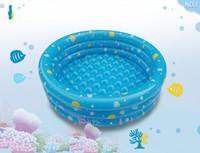 plastik aufblasbare karikaturen großhandel-Swim Center Family Aufblasbarer Pool Außendurchmesser 46 Zoll Angeln Ball Pool Baby Ocean Ball Kinder Aufblasbarer Ball Pool