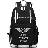 Wholesale rucksack backpacks girls resale online - Shadowhunters backpack Shadow hunters day pack True stories school bag Leisure packsack Quality rucksack Sport schoolbag Outdoor daypack