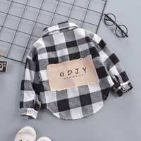 Wholesale baby boy korean style clothes for sale - Group buy Boys kidst shirts sizes Children Plaid Shirt Thin Underwear top long sleeve shirts baby designer kids printing shirt Korean tide clothes boy