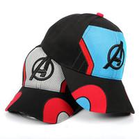 bonés dos vingadores venda por atacado-2019 novo filme avengers viseiras chapéus 3d bordado bonés de beisebol dos desenhos animados super hero cosplay chapéu de sol verão cap c6745
