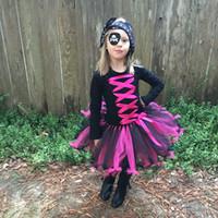 Wholesale princess petticoat for sale - Group buy Retail kids designer dress girls Halloween pirate princess dress with mask handmade petticoat consplay costume children party dress