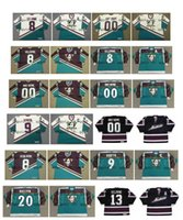 Wholesale steve red resale online - Vintage Anaheim Mighty Ducks Jerseys TEEMU SELANNE PAUL KARIYA SANDIS OZOLINSH TEEMU SELANNE STEVE RUCCHIN White Custom Hockey