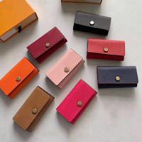 leder schlüsselkette halter brieftasche großhandel-Neuer Großhandelsspitzenqualitätsmehrfarbenlederschlüsselhalterkurzschlußentwerfer sechs Schlüsselmappenfrauen klassische Reißverschlusstaschenmänner entwerfen Schlüsselkette