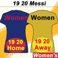 camisa amarilla de manga corta al por mayor-19 20 barcelona MESSI Jerséis de fútbol para mujer SUAREZ PIQUE A. INIESTA Camisas de fútbol amarillas de local azul marino lejos RAKITIC RAFINHA Mangas cortas Damas uniformes