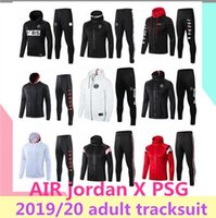 Wholesale 2019 Jordam X Paris jacket hoodie Survetement Paris MBAPPE football jackets POGBA soccer HOODI