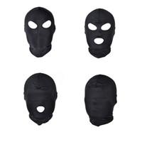 ingrosso sexy uomo mascherato sexy-Giochi divertenti testa Black Sex Mask Piece Sexy Head Mask Slave aperto bocca SM Bondage Sex Kinky Toys for Woman Man Coppie