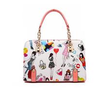 ingrosso sacchetti di tote genuini di cuoio europei-Borse a tracolla di grande capacità Manici superiori 2019 borse di lusso per designer di moda di marca Vendita calda di borse in vera pelle Tote handbag European Pink