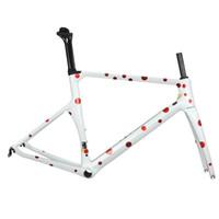 ingrosso i telai di carbonio di taiwan-telai della bicicletta della strada della fibra del carbonio della taiwan di colore bianco della vernice su ordinazione, vendita calda del frameset del carbonio di alta qualità