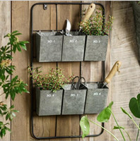 Wholesale wall flowerpot for sale - Group buy Horticultural tool shelf hanging on the wall Iron Flower Pot on the Wall Outdoor garden decorative flowerpot