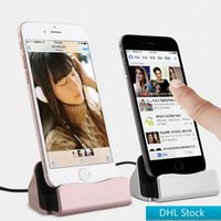 Wholesale choose mobile phone online – Stock Desk charging sync Dock cellphone mounts universal smart mobile phone charging holder with type C micro usb xs max head for choose