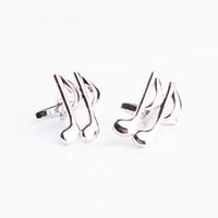 französische musikinstrumente großhandel-Neue Qualitätsmessingmusikinstrument-Saxophonmusiksymbolfranzösische Hemdmanschettenknöpfe geben Verschiffen frei