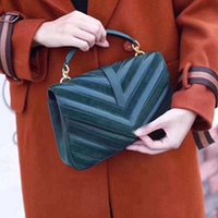 bolso bandolera mujer al por mayor-Caliente nuevo bolso de alta calidad nuevo Bolsos de las mujeres bolso de bandolera de la dama Bolso único bolso cosmético bolsos de cámara de cuero Bolsos a rayas