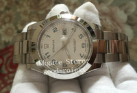 pulseras arabes al por mayor-41mm Hombre 2813 Relojes Mecánicos Sapphire 116300 Hombres Azul Plata Árabe Bisel Liso Datejust Reloj 116334 Pulsera Perpetua Relojes de pulsera